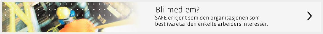 Bli Medlem i SAFE - banner
